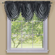 Ombre Waterfall Valance - Black