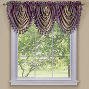 Ombre Waterfall Valance - Aubergine