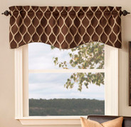 Raven Scalloped Valance - Available in 4 colors
