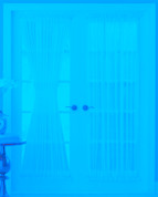 "Reverie Semi-Sheer Voile Door Panel 45"" long"