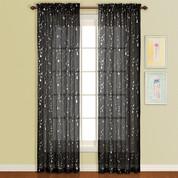 Savannah Rod Pocket Curtain Panel - Black