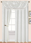 Splendid Rod Pocket Curtain Panel - White