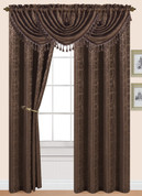 Splendid Rod Pocket Curtain Panel - Chocolate
