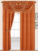 Splendid Rod Pocket Curtain Panel - Orange
