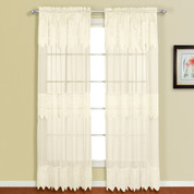 Valerie Macrame Rod Pocket Curtain Panel - Natural