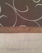 Westgate Rod Pocket Curtain Panel - Chocolate