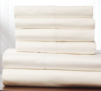 400 Thread Count Cotton Sheet Set Queen Size - White