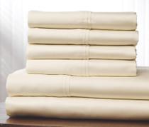 400 Thread Count Cotton Sheet Set Full - Ivory