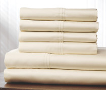 400 Thread Count Cotton Sheet Set Queen Size - Ivory