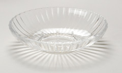 Acrylic Ribbed Soap Dish - Clear
