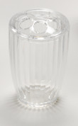 Acrylic Ribbed Toothbrush Holder - Clear