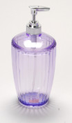 Acrylic Ribbed Lotion/Soap Dispenser - Magenta