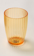Acrylic Ribbed Tumbler - Orange