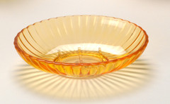Acrylic Ribbed Soap Dish - Orange