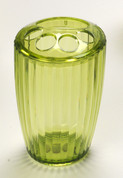 Acrylic Ribbed Toothbrush Holder - Palm Green
