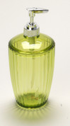 Acrylic Ribbed Lotion/Soap Dispenser - Palm Green