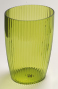 Acrylic Ribbed Wastebasket - Palm Green