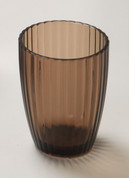 Acrylic Ribbed Tumbler - Brown