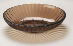 Acrylic Ribbed Soap Dish - Brown