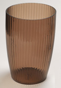 Acrylic Ribbed Wastebasket - Brown