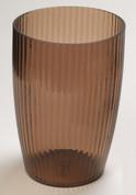 Acrylic Ribbed Wastebasket - Brown