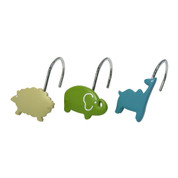 Animal Crackers Shower Curtain Hooks - set of 12