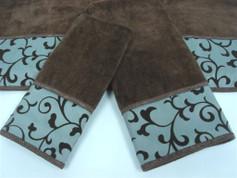 Becall Embellished 3pc Towel SET