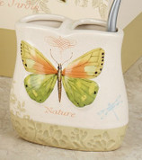 Butterfly Bliss - shower curtain & bathroom accessories toothbrush holder