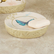 Butterfly Bliss - shower curtain & bathroom accessories soap dish