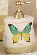 Butterfly Bliss - shower curtain & bathroom accessories lotion dispenser