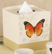 Butterfly Bliss - shower curtain & bathroom accessories tissue box cover