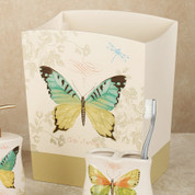 Butterfly Bliss - shower curtain & bathroom accessories wastebasket