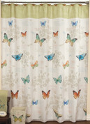 Butterfly Bliss - Fabric Shower Curtain
