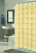 Carmen Ruffled Shower Curtain - Gold