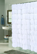 Carmen Ruffled Shower Curtain - White