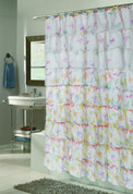 Carmen Ruffled Shower Curtain - Butterfly