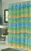 Carmen Ruffled Shower Curtain - Ombre