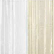 "Extra Long Fabric Shower Curtain Liner 84"" long"