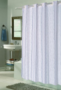 EZ On Shower Curtain - No Shower Hooks required - Astor