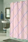 EZ On Shower Curtain - No Shower Hooks required - Fairfield