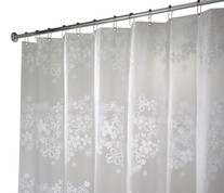 Fiore Vinyl Shower Curtain - White