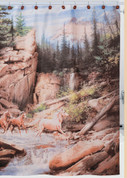Horse Canyon - Fabric Shower Curtain