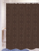 Jacquard Shower Curtain - Chocolate