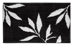 Leaves Rug - Black