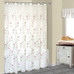 Loretta Sheer Embroidered Shower Curtain Violet