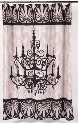 Luminere Chandelier Shower Curtain