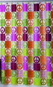 Peace Out - Vinyl Shower Curtain