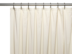 Premium Vinyl Shower Curtain Liner - Bone