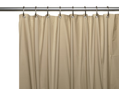 Premium VINYL Shower Curtain Liner - Linen