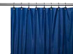Premium VINYL Shower Curtain Liner - Navy
